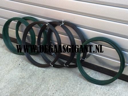 Binddraad groen geplastificeerd 2,0 mm. 75 m. | De Gaasgigant draad