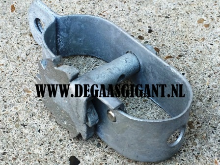 Draadspanner nr 4 met kamwiel verzinkt 120 mm. | De Gaasgigant draadspanners