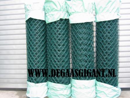 Harmonicagaas groen geplastificeerd 150 cm. | De Gaasgigant harmonicagaas