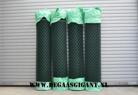 Harmonicagaas groen geplastificeerd 200 cm. | De Gaasgigant harmonicagaas