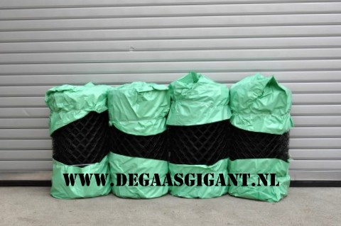Harmonicagaas groen geplastificeerd 80 cm. | De Gaasgigant harmonicagaas
