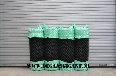Harmonicagaas zwart geplastificeerd 125 cm. | De Gaasgigant harmonicagaas