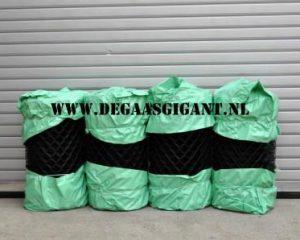 Harmonicagaas zwart geplastificeerd 80 cm. | De Gaasgigant harmonicagaas
