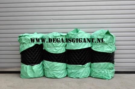 Harmonicagaas zwart geplastificeerd 80 cm.   De Gaasgigant harmonicagaas
