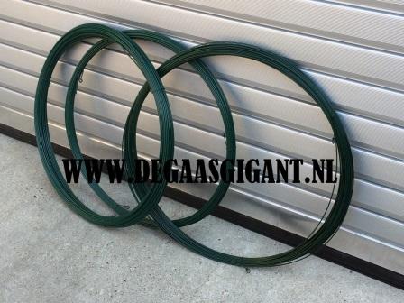 Spandraad groen geplastificeerd 3,8 mm. 50 m.   De Gaasgigant draad
