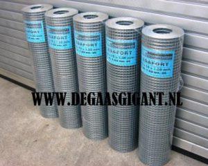 Cavatorta Volièregaas verzinkt. Esafort gaas. Maaswijdte 19 x 19 mm. Draaddikte 1