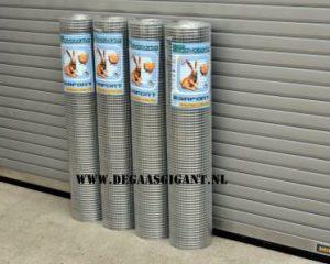 Volieregaas/Nertsengaas verzinkt van het merk Cavatorta per rol en per meter te koop. Type Esafort gaas. 19 x 19 x 1
