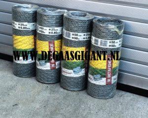 Hexanet verzinkt is het zeskantgaas van Betafence. Hexanet verzinkt  met maaswijdte van 25 mm. Hoogte 50 cm. Hexanet gaas is stevig zeskantig vlechtwerk. Prijs per rol.