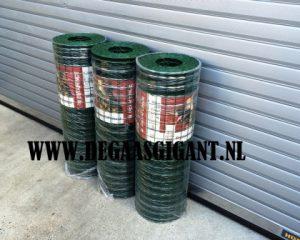 Pantanet protect groen geplastificeerd. Hoogte 102 cm. Pantanet Protec 5 x 5 cm. Te koop op rollen van 25 meter voor een mooie prijs.