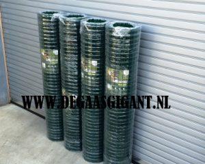 Sterk tuingaas 180 cm. plaatsen? Extra zware kwaliteit groen geplastificeerd. Maaswijdte 50 x 50 mm. Draaddikte 3