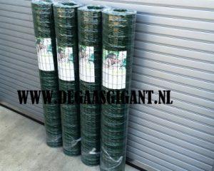 Zwaar tuingaas groen geplastificeerd voordelig kopen? Hoogte 200 cm. Draaddikte 2