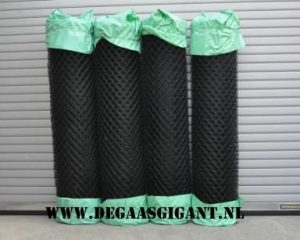 Harmonicagaas zwart geplastificeerd 175 cm.